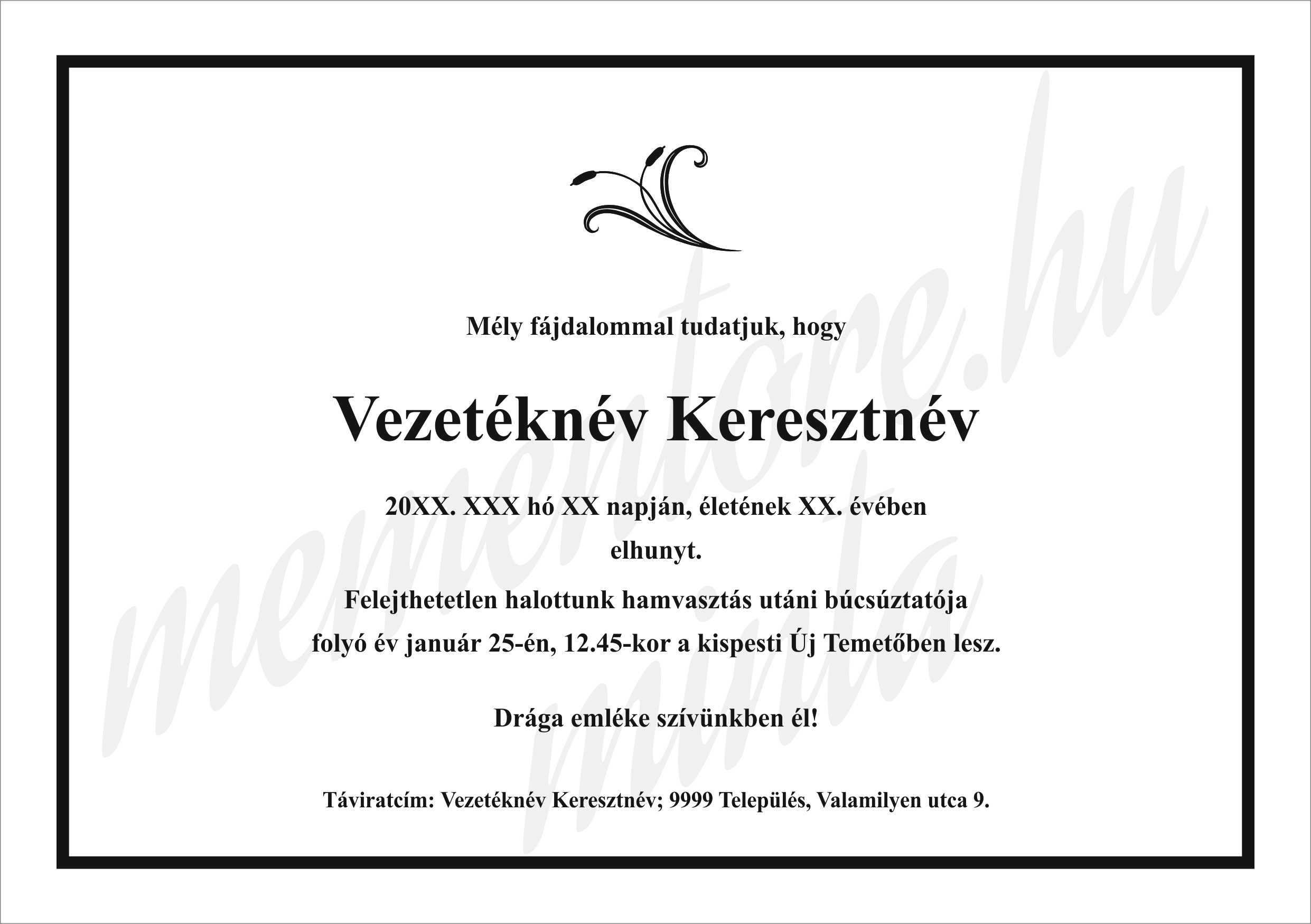 Online-rendelheto-A5-Gyaszertesito-minta_noveny_grafikaval-Mementore